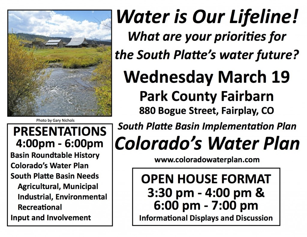 CO water plan flyer